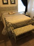Queen size bedroom set - entire set! Bed, night stand, sitting beds (and all bedding if you want)