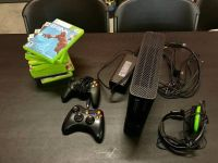 Xbox 360 Console Lot - 2 Controllers, Headset, and 13 Games