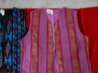Handmade and Sewn Vests-Various Sizes and Color /Patterns