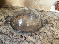 Vintage Silverplate Tray with Cake Dome