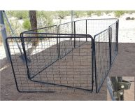Dog enclosure panels