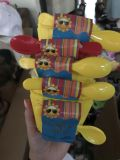 Ice cream bowls with spoons