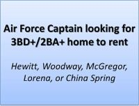 Air Force Captain looking for 3BD2BA