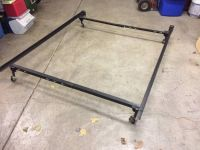 Queen/full size bed frame with casters