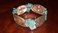 New Silver tone & Turquoise Stretch Bracelet from Younkers