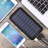 Solar Charger BERNET 24000mAh High Capacity Portable Solar Charger With USB Fan and 3 USB Port External Battery Pack Phone Charger For iPhone iPad Android Samsung HTC Cellphones And More Yellow