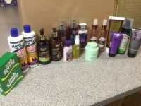 Shampoos and body mist and styling cream body lotions