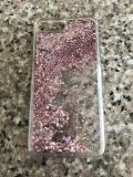 I phone 6 plus rose gold floating sparkle and glitter bumper case