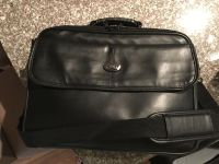 Leather Icon laptop briefcase with shoulder strap and handle. Great condition. Non smoking home.