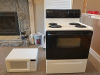 Stove and microwave set.