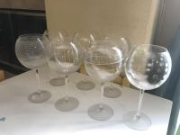 Etched set of 7 Wine Glasses. Take all for $5! Pick up in Aliso Viejo