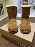 UGG Brown with Pink bows