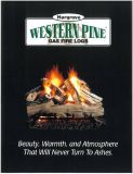 Fire logs for natural gas fireplace
