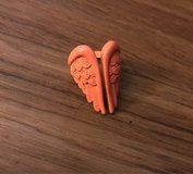 Neon Orange Angel Wings Ring