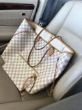 Authentic Louis Vuitton Azur Neverfull GM with Pouch