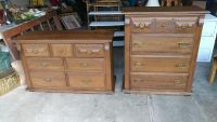 Set of 2 Dressers. Restained and Polished