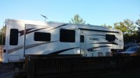2007 35' CAMEO BY CARRIAGE 5TH WHEEL CAMPER, DECK11X29, AND 12X16 SHED
