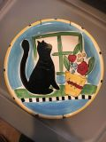 Cute cat plate. Measures 12 inches across