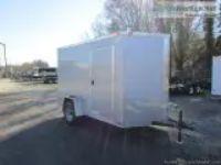 x Single Axle Enclosed Cargo Trailer - Silver ()