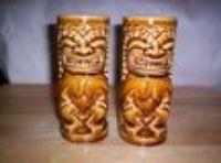 """1971 SET OF 2 """"ORCHIDS OF HAWAII"""" TIKI MUGS, NUMBERED, EXCELL. COND."""