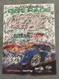 B and New Rolex 24 Pister from 2006. Signed by all the drivers