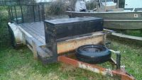 16 ft trailer with ramp gate.