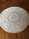 Beautiful Vintage 22 Poinsettia/Rose Crocheted Doily