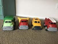 Green Toys Recycling Truck, Dump Truck, School Bus and Fire Truck