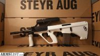 For Sale: Steyr Arms White AUG with 3.0x Scope Bullpup Semi Auto Rifle chambered in 5.56 Nato