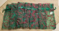 Set of 6 Small Toile Holiday Gift Bags