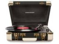 Crosley CR6019ABK Executive Turntable Black Portable Record