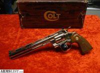 """For Sale: COLT PYTHON 8"""" NICKEL 357 Magnum"""