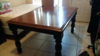 Black cherry table with 4 chairs