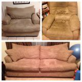 Couch loveseat recliner