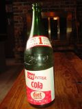 Vintage Montreal Cola Soda Pop Bottle- QT 32 Oz Green Glass