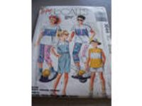 McCalls easy pattern 1988 boys girsl sz Medium top, pants