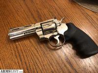 For Sale: Colt Python 4in nickel 357 magnum