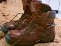 STEEL COMPOSITE TOE, INSULATED WORK BOOTS sz 12-13