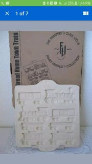 Pampered Chef gingerbread train mold