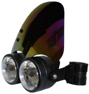 Find Carbon Dual 4.5in Headlight w/ 38 - 40mm Brackets & Iridium Shield Motorcycle motorcycle in Ashton, Illinois, US, for US $264.99