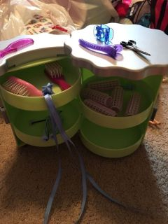 American girl hair organizer and accessories