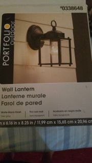 Wall lantern brand new. Never used
