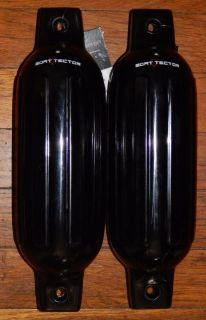 Sell Black Boat Fenders 5.5'' x 20'' set of 2 Bumpers Vinyl Warranty Ribbed New motorcycle in Davison, Michigan, United States, for US $24.95