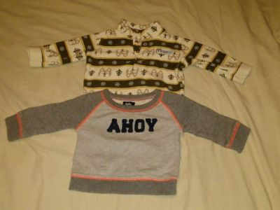 (2) light weight sweaters size 3/6 months BUNDLE DISCOUNT IF PURCHASE $25-$4 SERIOUS BUYERS ONLY my profile my meeting information SERIOUS B