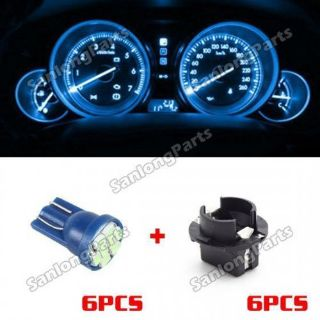 Find 6pcs T10 Ice Blue PC194 LED Bulbs with Sockets Holders Gauge Cluster for BMW motorcycle in Milpitas, California, United States