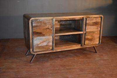 Rustic Reclaimed Solid Wood TV Stand / Media Co...