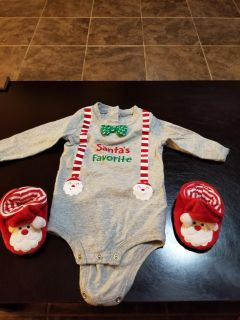 3 to 6 month holiday onesie
