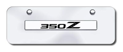 Purchase Nissan 350Z Name Chrome on Chrome Mini-License Plate Made in USA Genuine motorcycle in San Tan Valley, Arizona, US, for US $29.87