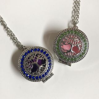Two tree of life essential oil necklaces