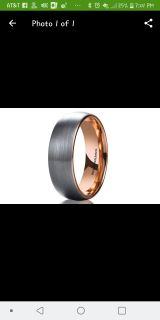 Classic Rose Gold Domed Tungsten Carbide Wedding Band Ring